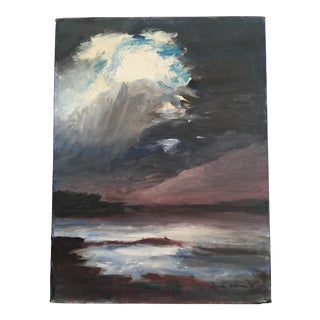 Vintage Oil on Canvas Seascape