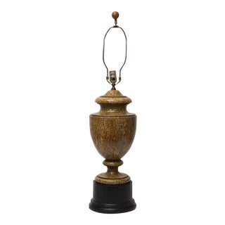 Traditional Faux Marble Lamp For Sale