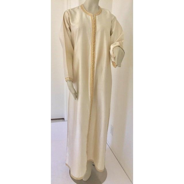 Moroccan Elegant Luxury Dupiono Silk Caftan Gown Maxi Dress For Sale - Image 13 of 13