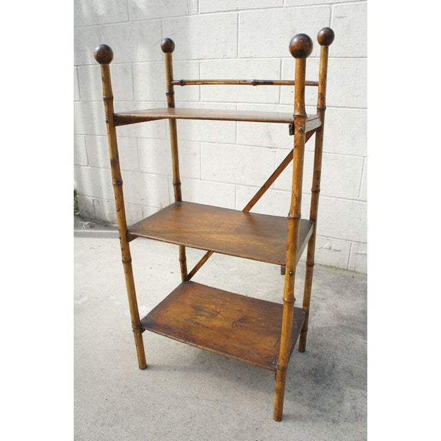 Bamboo Etagere Shelf For Sale - Image 4 of 7