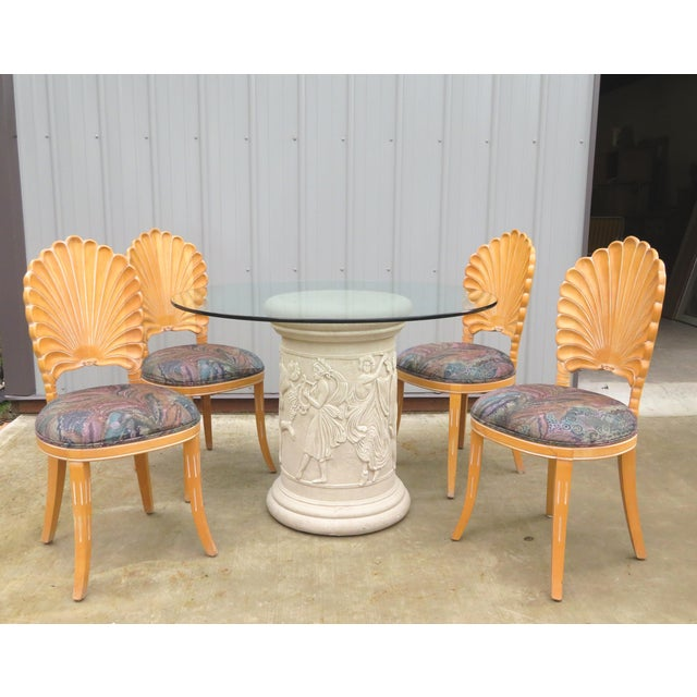 20th Century Vintage Italian Grotto Dining Table - 5 Pieces For Sale - Image 12 of 12