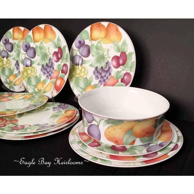 Villeroy & Boch, Gallo Design, Frutteto, Chop/Charger Plates - Set of 5 For Sale - Image 11 of 13