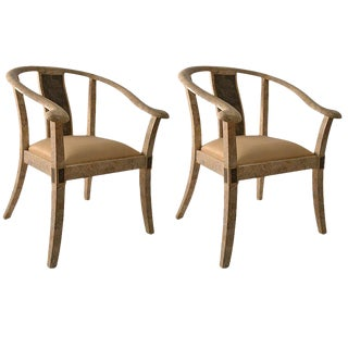 Pair of Tessellated Stone Asia Modern Chairs For Sale