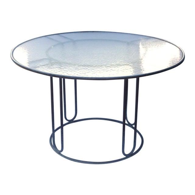 Walter Lamb Brown Jordan Patinated Bronze Patio Table - Image 1 of 5