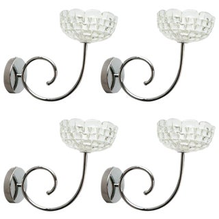 Ercole Barovier Murano Glass Bowl Sconces (4 Available) For Sale