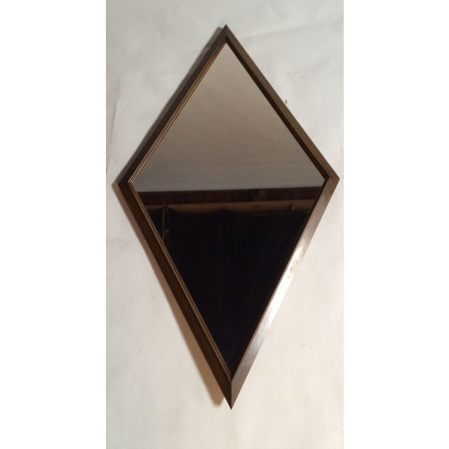 1960s Diamond Walnut Mirrors - A Pair - Image 3 of 5