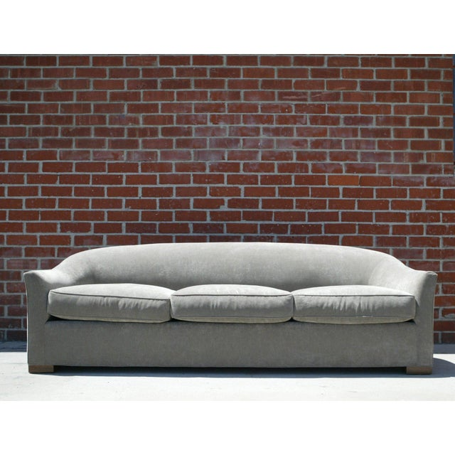 Down Filled Silver Velvet Sculptural Sofa - Image 9 of 9