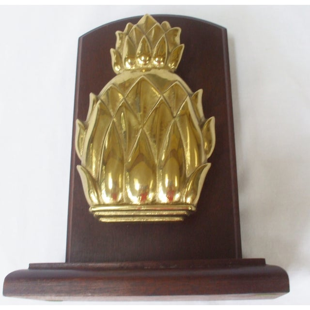 Brass Pineapple Door Knocker or Bookend For Sale - Image 4 of 5