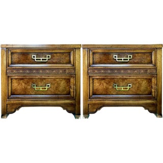 1960s Henry Link Chinoiserie Nightstands-a Pair For Sale