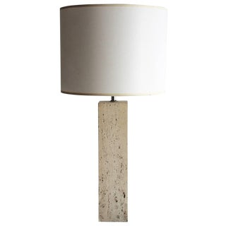 Modern Travertine Lamp For Sale