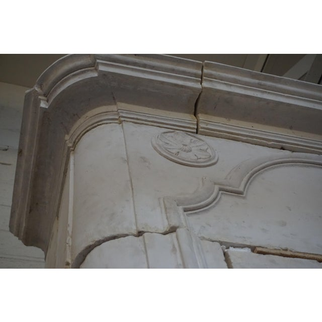 18th Century Limestone Mantel with Trumeau For Sale - Image 4 of 7