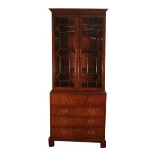 1980s Traditional Henredon Portfolio Bookcase Butlers Desk For Sale