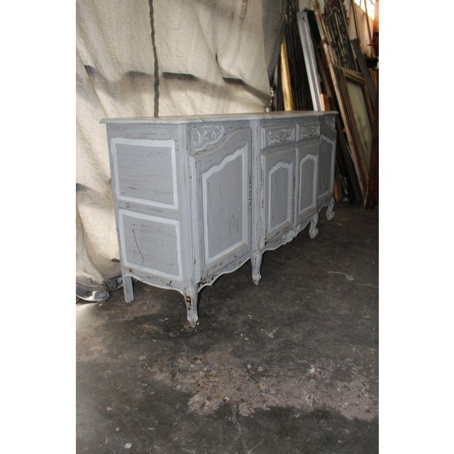 19th Century French Gray Sideboard For Sale In Atlanta - Image 6 of 7