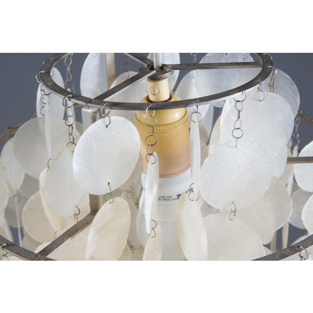 Shell Fun 1 DM Capiz cap chandelier by Verner Panton for Luber For Sale - Image 7 of 8