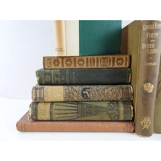 Antique Bronze Poetry & Literature Books Collection - Set of 7 Preview