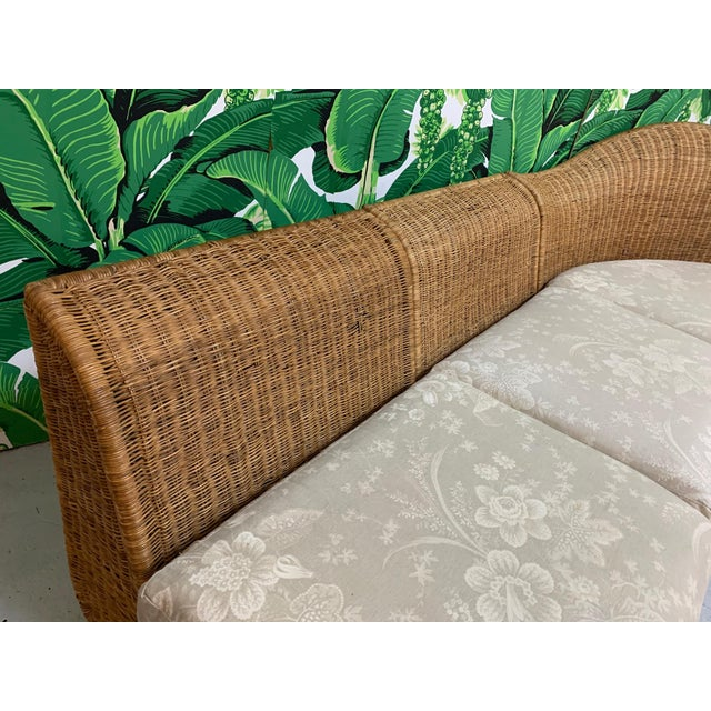 Wicker Large Sculptural Wicker Sectional Sofa For Sale - Image 7 of 13