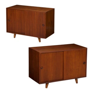 Pair of Illums Bolighus Danish Modern Nightstand Cabinets, Mid Century Circa 1960s For Sale