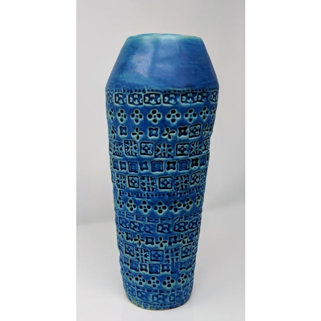 Tribal Inspired Embossed Vase For Sale - Image 10 of 13
