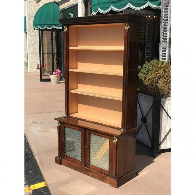 A 19th century French rosewood bookcase.