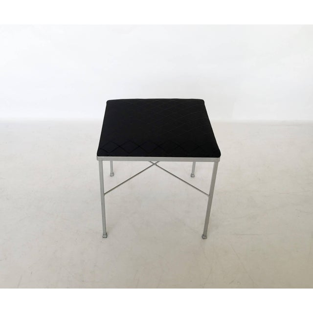 Thonet Eight X-Base Brass Stools by Thonet For Sale - Image 4 of 9