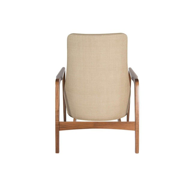 Pair of Warren Walnut Lounge Chairs For Sale - Image 4 of 6