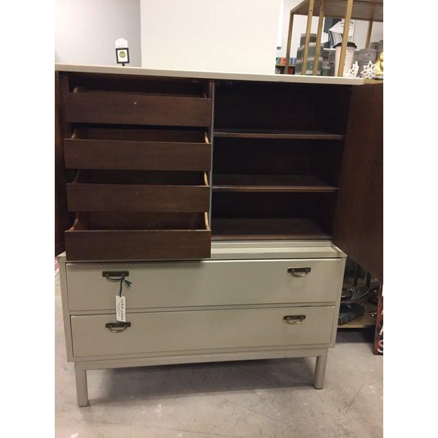Mid-Century Modern Tan Dresser - Image 4 of 9