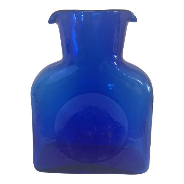 Blenko Vintage Cobalt Blue Double Spout Glass Carafe - Image 1 of 7