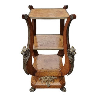 Late 19th Century Marquetry and Ormolu Side Table For Sale
