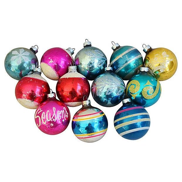 1960s Christmas Tree Ornaments w/Box - Set of 12 - Image 3 of 6
