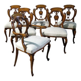 Late 20th Century Biedermeier Style Dining Chairs- Set of 8 For Sale