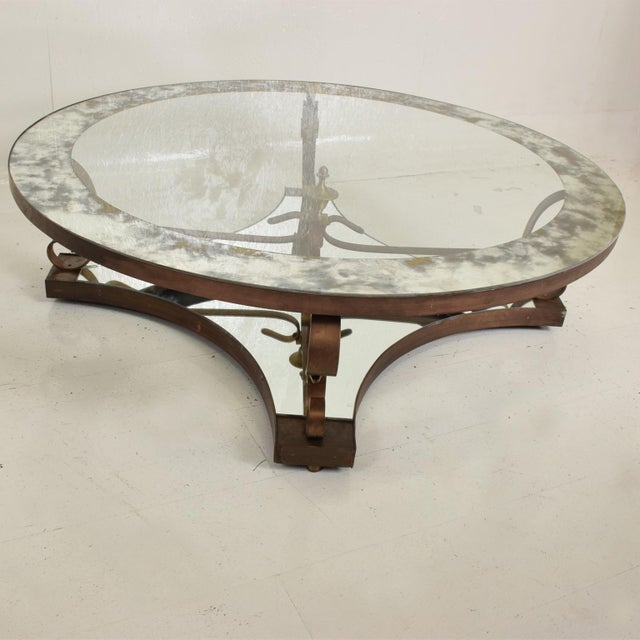 1950s Mid-Century Mexican Modernist Round Coffee Cocktail Table by Arturo Pani For Sale - Image 5 of 9