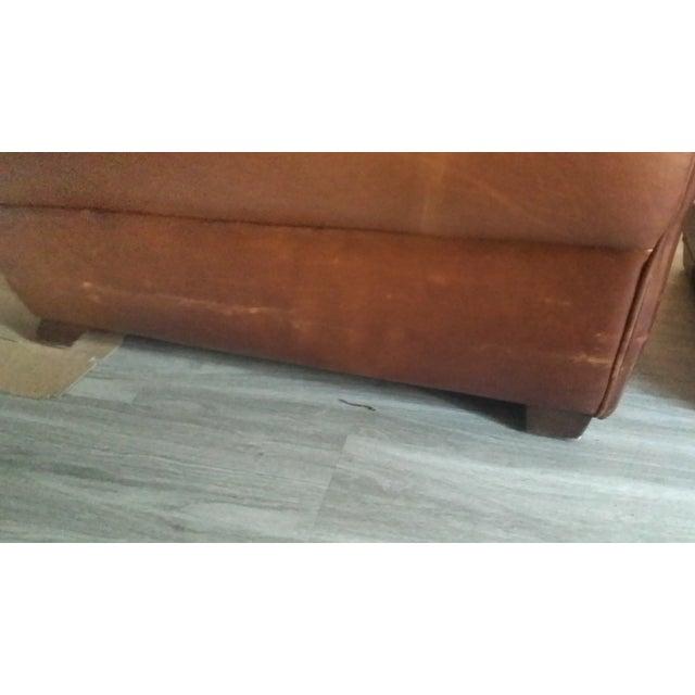 "Restoration Hardware ""Parisian"" Leather Sofa For Sale - Image 5 of 6"
