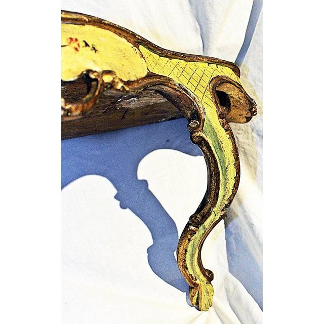 Metal Venetian Painted Wall Bracket Shelf For Sale - Image 7 of 11