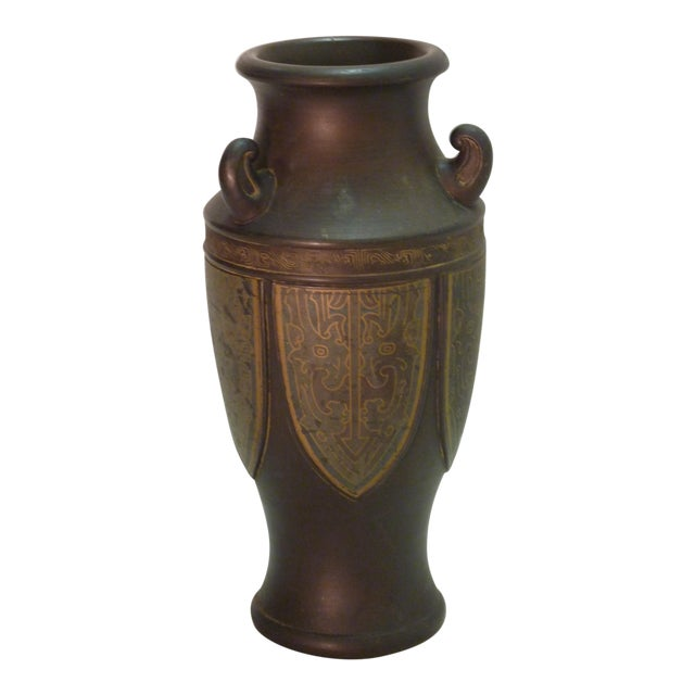 Japanese Bronze Tone Vase Chairish