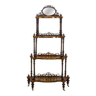 19th Century Victorian Étagère For Sale