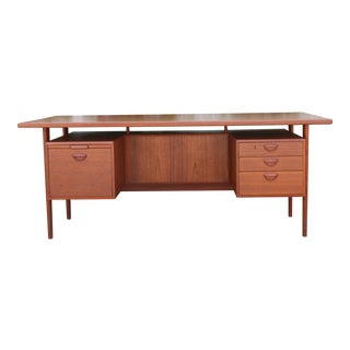 Danish Teak Floating Desk by Kai Kristiansen For Sale