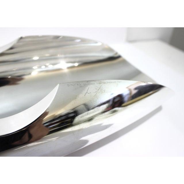 Vintage Sabattini Sayala Baguette Form Serving Dish Silver Plate For Sale - Image 4 of 12