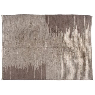 Taupe Berber Moroccan Rug - 10′ × 13′9″ For Sale