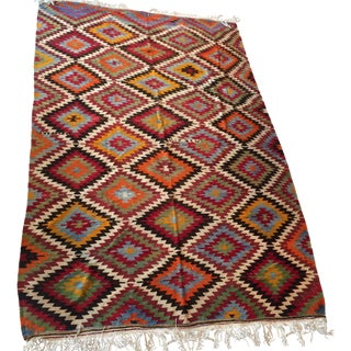 Vintage Turkish Usak Kilim - 6′9″ × 10′7″