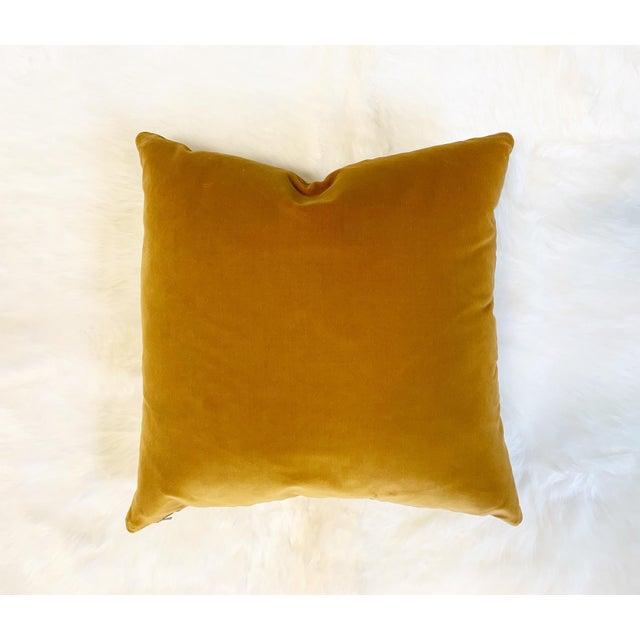 "2010s Yellow Loro Piana Velvet Pillow, 18"" For Sale - Image 5 of 5"