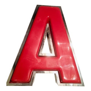 "Vintage Advertising Red Capital Letter ""A"" For Sale"