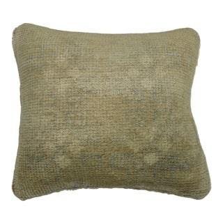 Small Oushak Rug Pillow For Sale