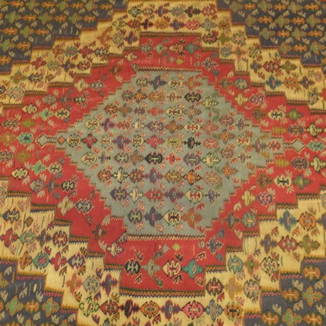 Wool hand made very fine Persian Senneh kilim.