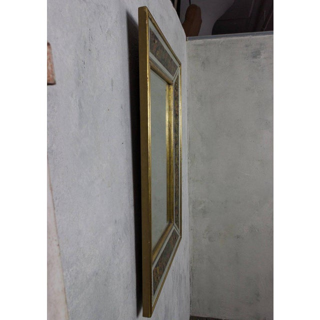 French, 1940s Reverse Painted Mirror For Sale In New York - Image 6 of 11