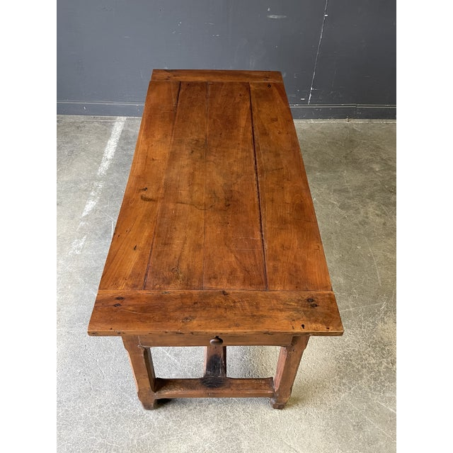1800's Primitive French Dining/Work Table/Console For Sale - Image 4 of 13