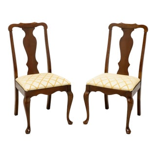 Pennsylvania House Solid Cherry Queen Anne Dining Side Chairs - Pair A For Sale