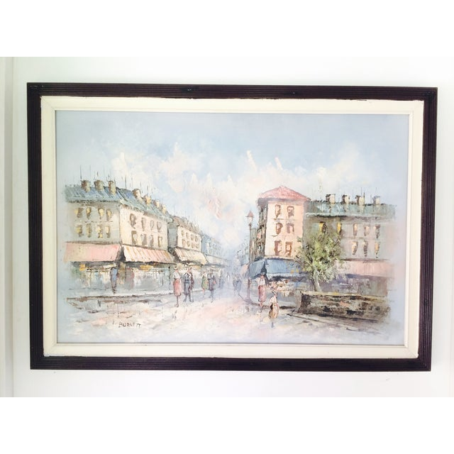 Caroline Burnett Street of Paris Oil Painting - Image 2 of 7