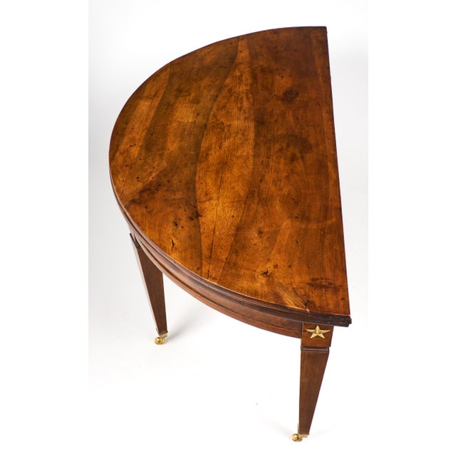 French Directoire Folding Demilune Table - Image 10 of 11