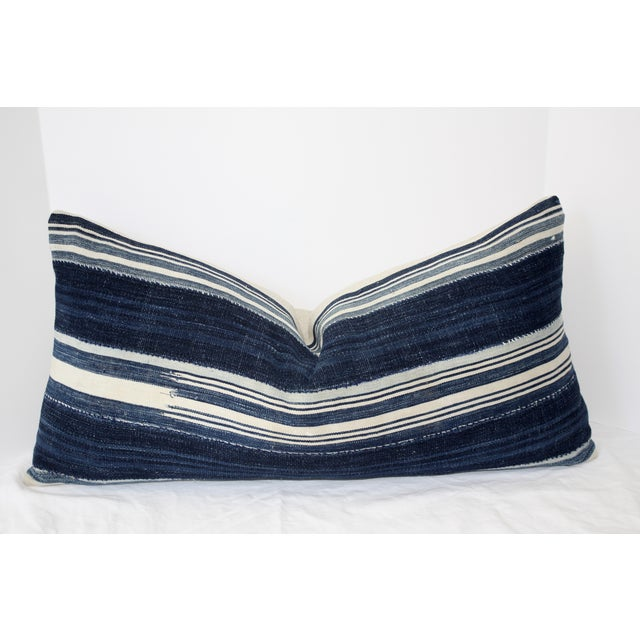 Vintage Mali Indigo Textile Pillow - Image 3 of 5