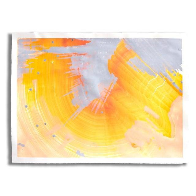 """Orange Opal"" Original Painting - Image 2 of 2"